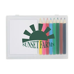 Customized 8 Piece Colored Pencil Art Set in Case