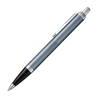 Customized Parker® IM Silver Ball Pen with Chrome Trim