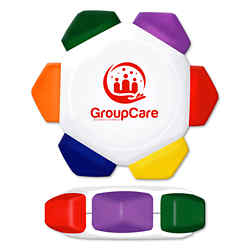 Customized Crayo-Craze® White Wheel 6 -in-1 Crayon