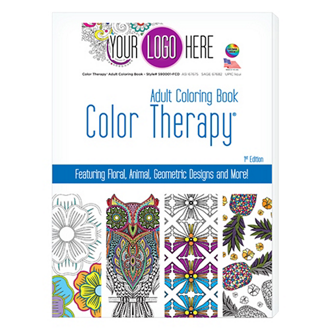 Customized Color Therapy® Adult Coloring Book - 24 Pages