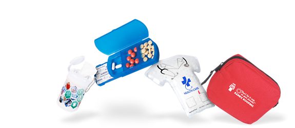 Custom Hand Sanitizers, Wipes, Pill Box, First Aid Kit Hero