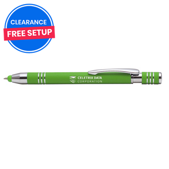 Customized Bright Soft Touch Maya Stylus Pen - Mirror Imprint