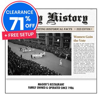 Customized 2020 Daily History Wall Calendar