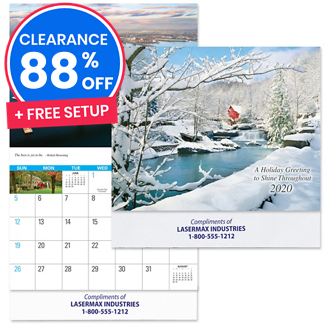 Customized Reflections Wall Calendar with Colour Imprint