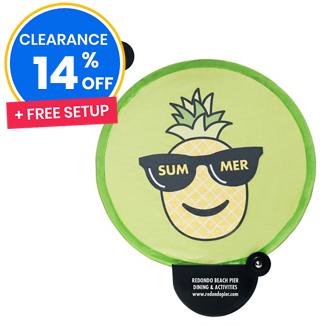 Customized Pineapple & Liberty Handheld Pop-Up Fan