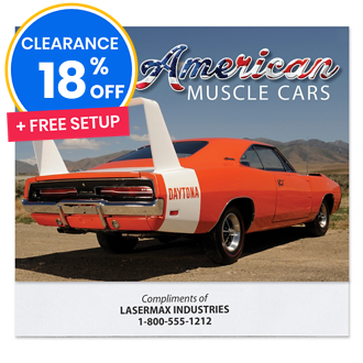 Customized American Muscle Car Calendar