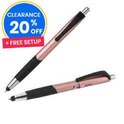 Customized Matte Metallic Arrow Pen with Stylus Tip