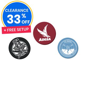 Customized Plastic Quartermark Ball Markers
