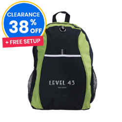 Customized Sports Backpack - Lime Green