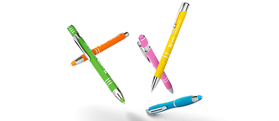 Custom Promotional Pens Hero of Colourful Pens
